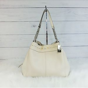 Coach Lexy Chain Shoulder Bag with Flower Accents